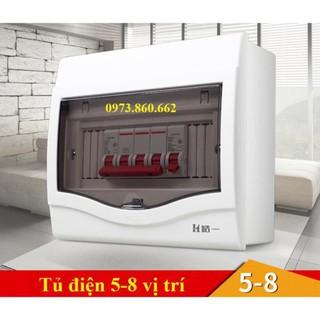 Tủ điện âm tường gài aptomat - tủ cài át 2-4 vị trí, 6-8 vị trí, 9-12 vị trí, hộp gài át -TBĐ -Thiết bị điện giá tốt thumbnail