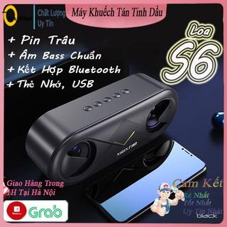 Loa bluetooth không dây S6,Loa mini cầm tay âm bass cực căng chuẩn stereo dung lượng pin khủng BH 12 tháng