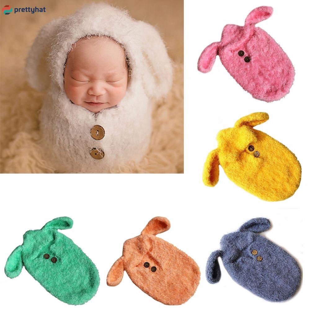 Newborn Baby's Photography Studio Modeling Puppy Wool Hand-Woven Sleeping Bag