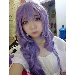 Tóc giả cosplay màu tím