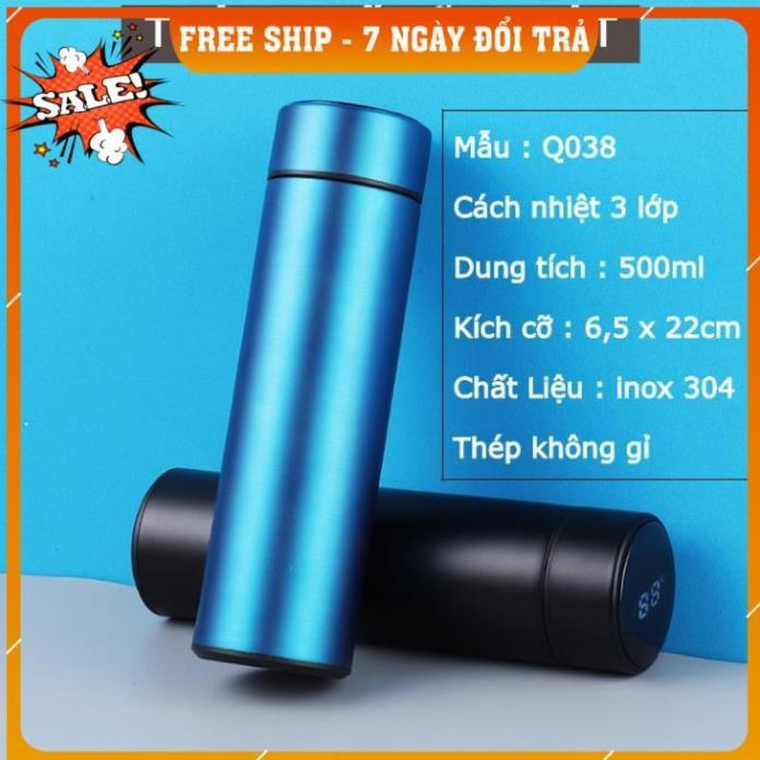 [FREESHIP TOÀN QUỐC] Bình Giữ Nhiệt 500ml Nắp Cảm Ứng Nhiệt Độ Inox 304 Cao cấp