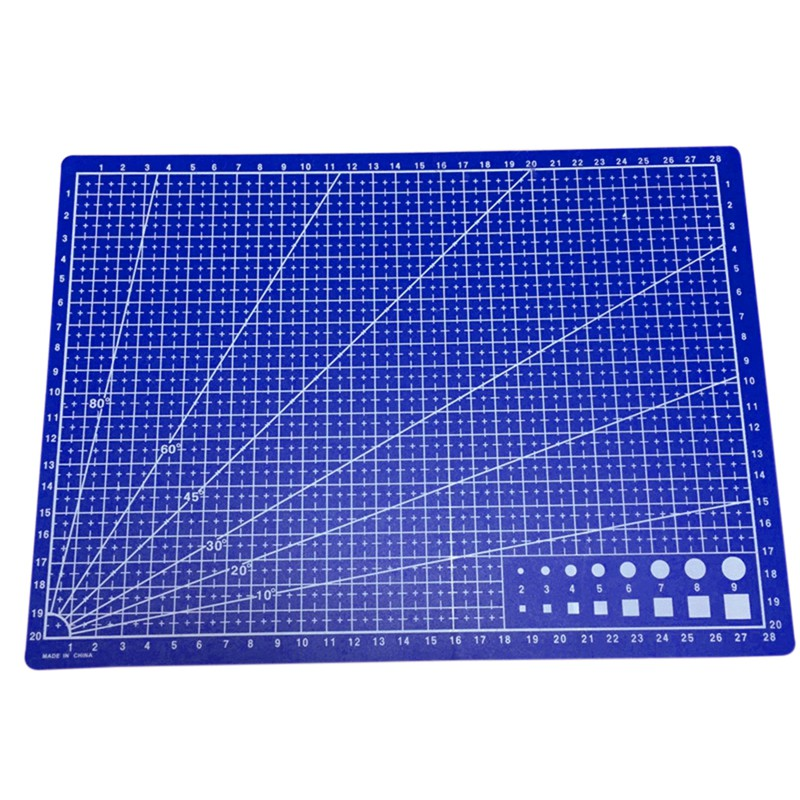 DelicatelifeA4 Cutting New Craft Mat Printed Line Grid Scale Plate Leather Paper Board