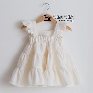INS BABY GIRL Váy dáng công chúa xòe 3 tầng cho bé gái