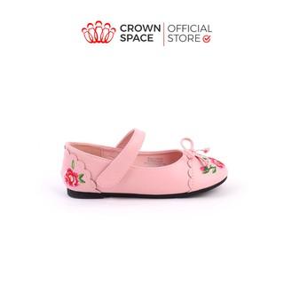 Giày Búp Bê Bé Gái Đi Học Đi Chơi Crown Space UK Ballerina Trẻ Em Cao Cấp CRUK3112 Nhẹ Êm Thoáng Size 25-32 2-12 Tuổi