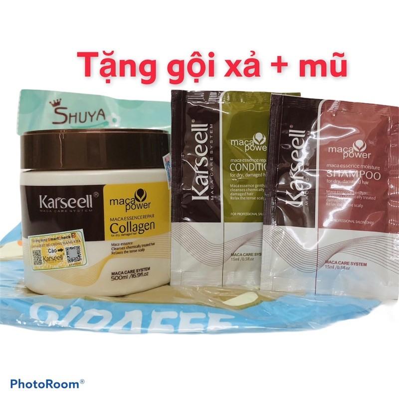 KARSEELL - Dầu Hấp Ủ Dưỡng Ẩm Phục Hồi Tóc Siêu Mềm Mượt Collagen Karseell 500ml