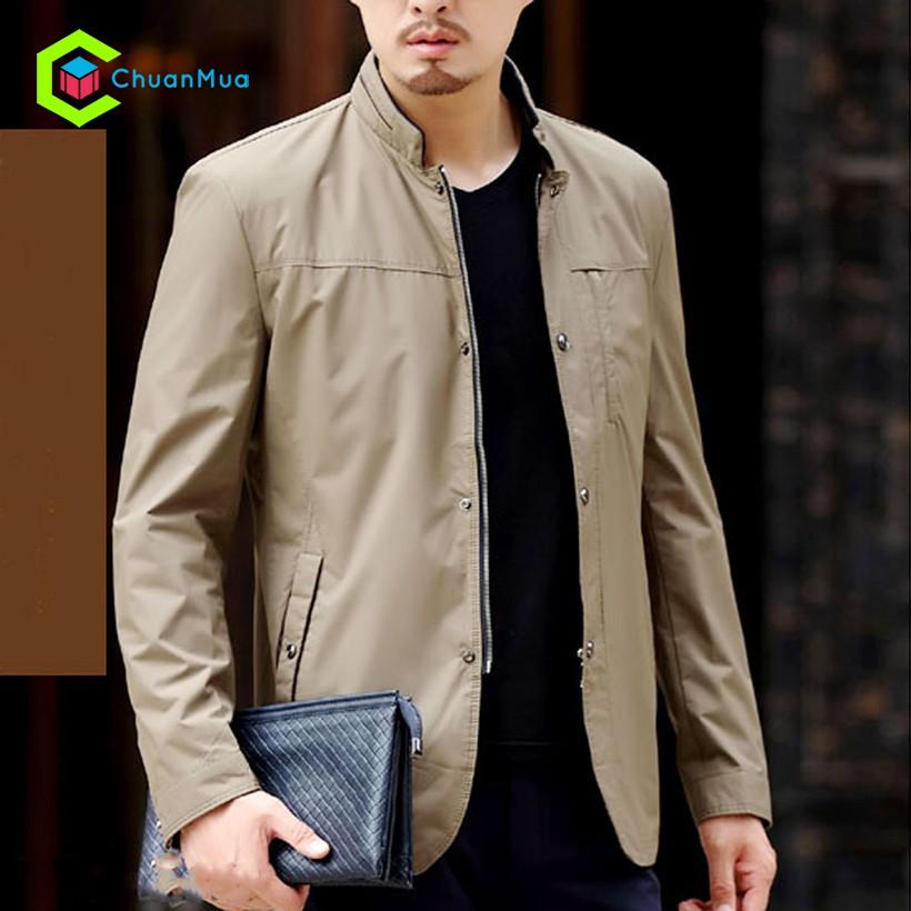 Áo khoác Nam Kaki Giả Vest Cài Nút Có Túi Trong - Màu kem - FSA030-F0051