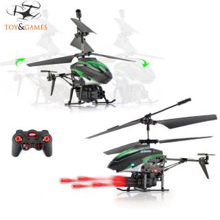 2-Motors Mini Remote-controlled Aircraft with 6 Missiles Children Plastic Helicopter Toy Christmas