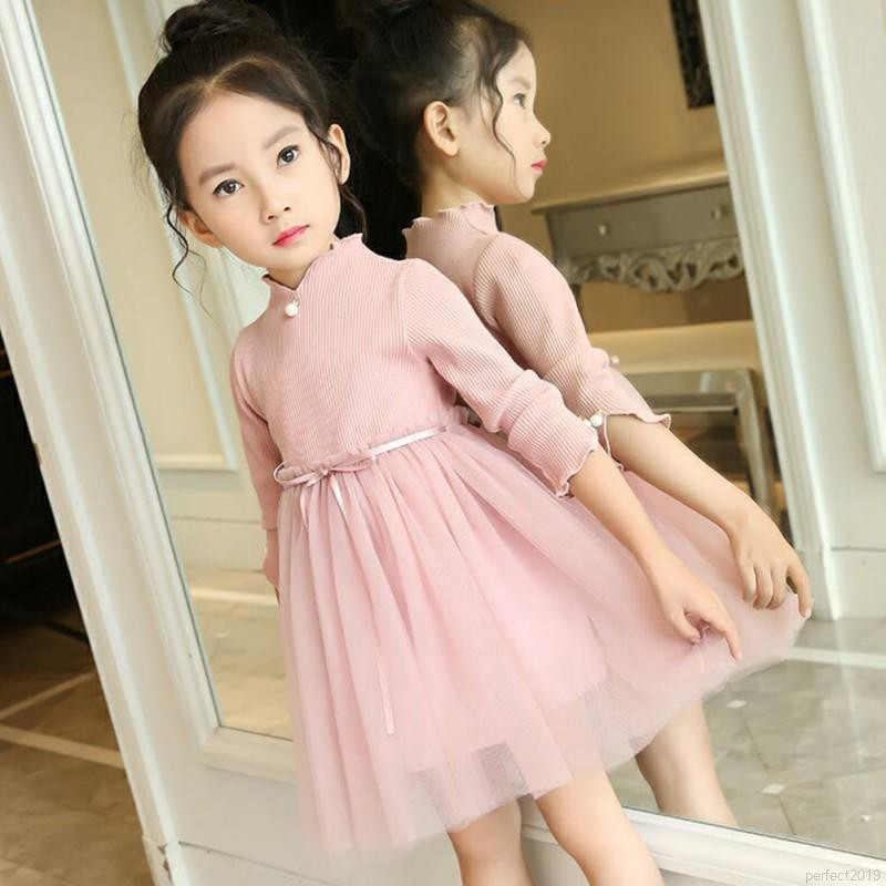 Váy đầm công chúa tay dài cho bé gái 1-9 tuổi