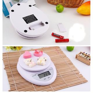 (Tặng 2 Pin) Cân Điện Tử Nhà Bếp 5kg - Cân Chia Thực Phẩm Nhà Bếp - Cân Tiểu Ly 5kg WH - B05 5KG