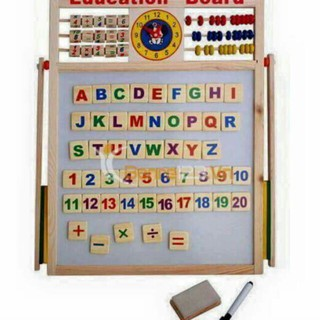 Bảng ghép chữ 2 mặt cho bé