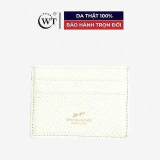 [Mã MABRL220 hoàn 15% đơn 99K tối đa 50K xu] Ví Đựng Thẻ Da Bò Cao Cấp Màu Trắng WT Leather 0950.9 thumbnail