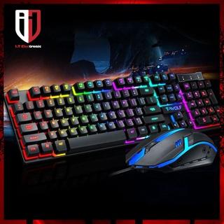 Bàn Phím Máy Vi Tính Laptop Gaming Gỉa Cơ T-WOLF T20 USB Có Dây Chuyên Game Đèn Led thumbnail