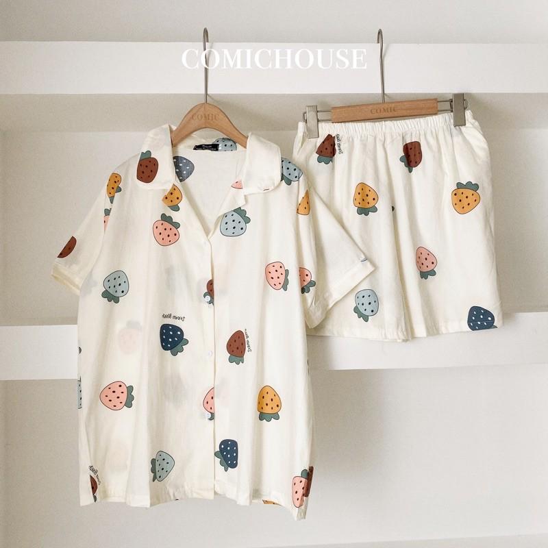 Pijama (đồ bộ mang nhà) thô hàn Comichouse