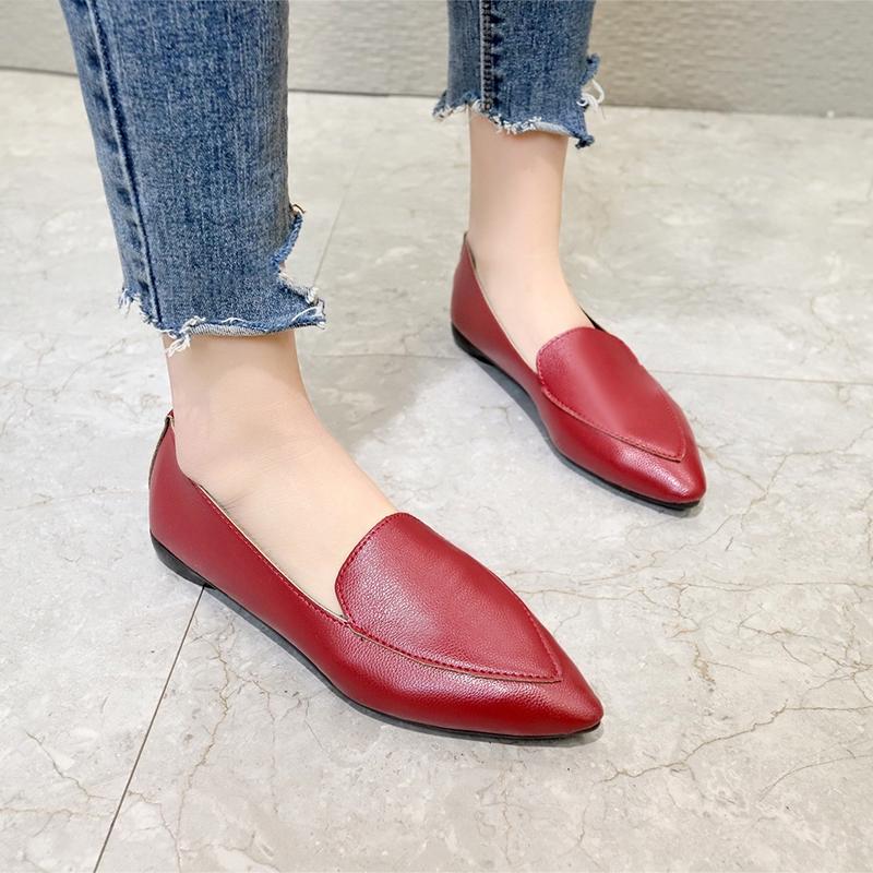 Giày lười mũi nhọn thời trang cho nữ