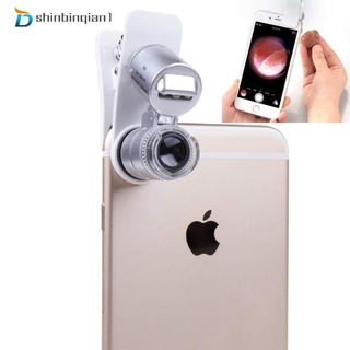 efl Mobile Phone Microscope Macro Lens 60X Optical Zoom Magnifier Micro Camera Universal Clip for iPhone Sumgung