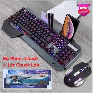 Combo Game Thủ - Bộ Phím, Chuột K618 Và Lót Chuột Siêu Lớn Led RGB Cao Cấp Bàn Phím 10 Chế Độ Led Khác Nhau thumbnail