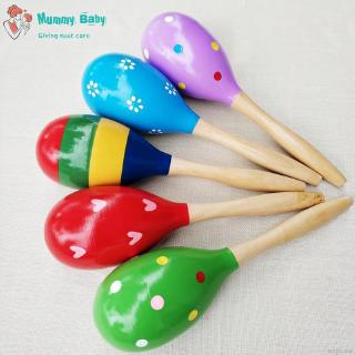 Children Wooden Color Infant Small Sand Hammer Rattles Mobiles