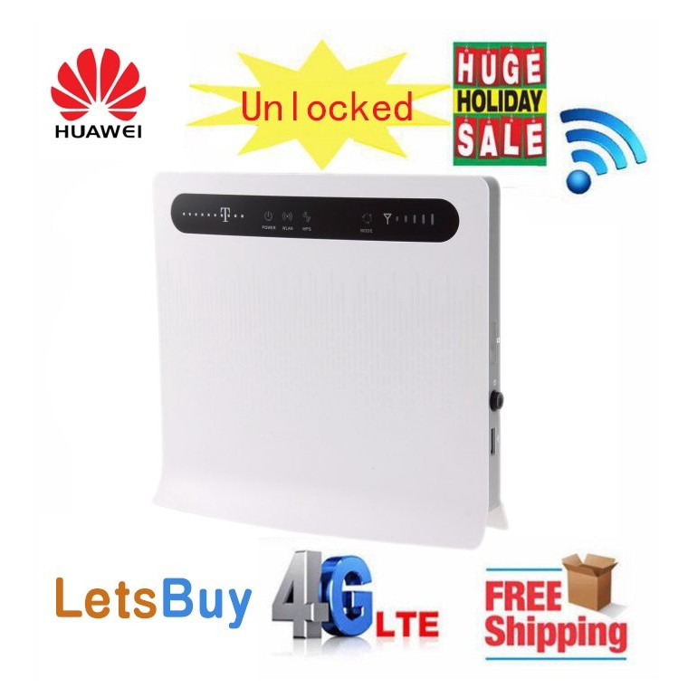 Unlocked Huawei B593s-12 4G LTE 100Mbps CPE 4G LTE WiFi Router with 4 Lan Port