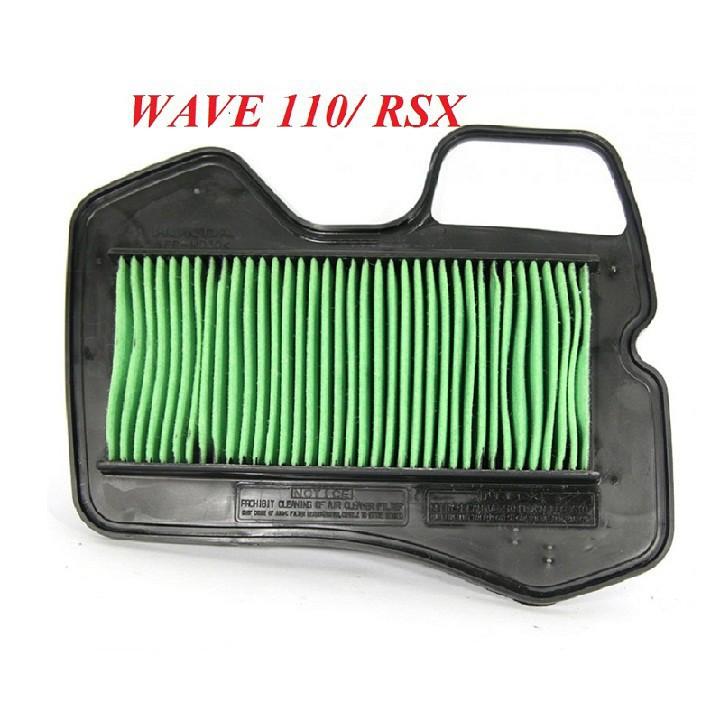 Lọc gió xe máy Wave 110cc, Wave RS 110cc, Wave RSX 110cc, Wave S 110cc