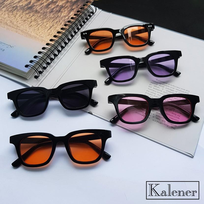 Gọng kính mắt thời trang nam nữ - Kính râm gọng vuông nhiều màu với tròng chống tia UV400 cao...