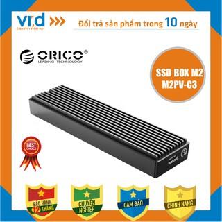 Box ổ cứng Orico SSD NVMe M.2 TCM2-C3 USB 3.1, SSD M2 NVME, M.2 SATA to USB Type-C làm ổ di động ORICO M2PV-C3 M2PF-C3