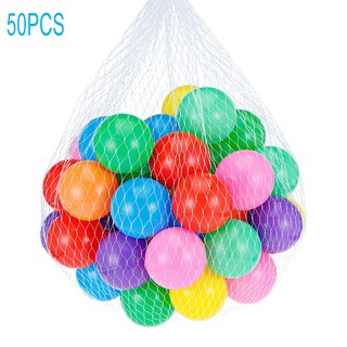 50PCS Colorful Soft Elastic Plastic Ocean Ball Toy 5.5cm