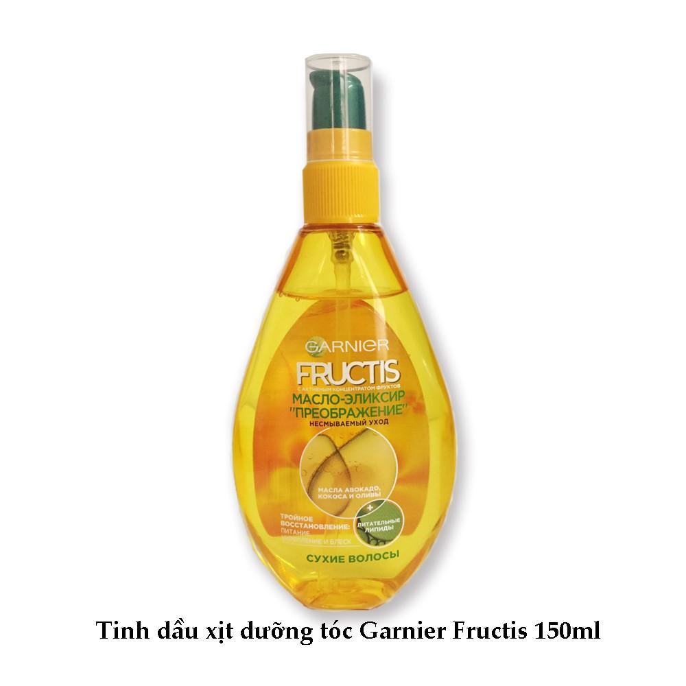 Tinh dầu xịt dưỡng tóc Garnier Fructis siêu phục hồi mềm mượt tóc