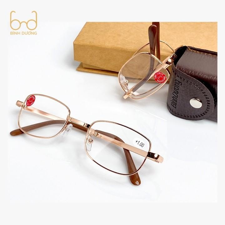 Kính lão thị viễn thị kinhmatbinhduong BD1 một tròng Nam Nữ thiết kế thông minh gọng gập cực tiện lợi