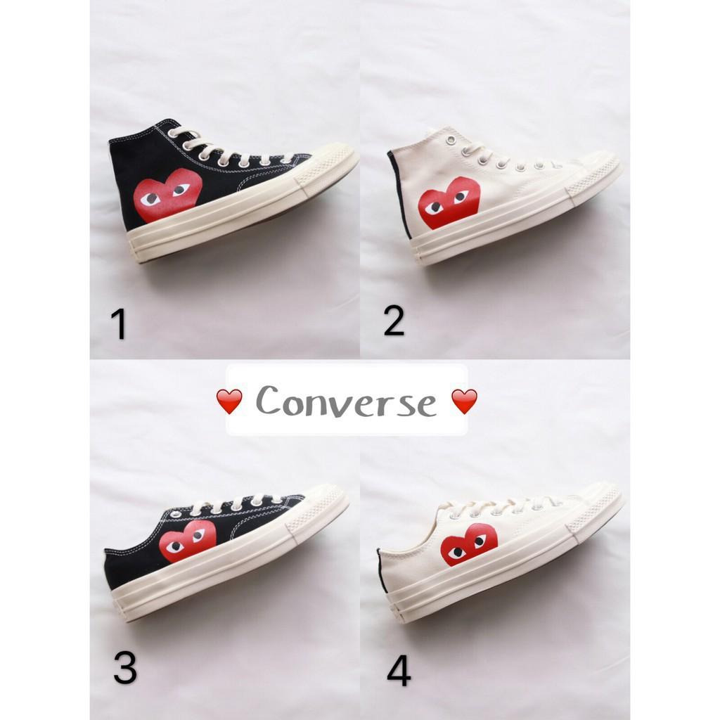 Original Converse  CDG X Converse 1970s Play    Canvas Shoes