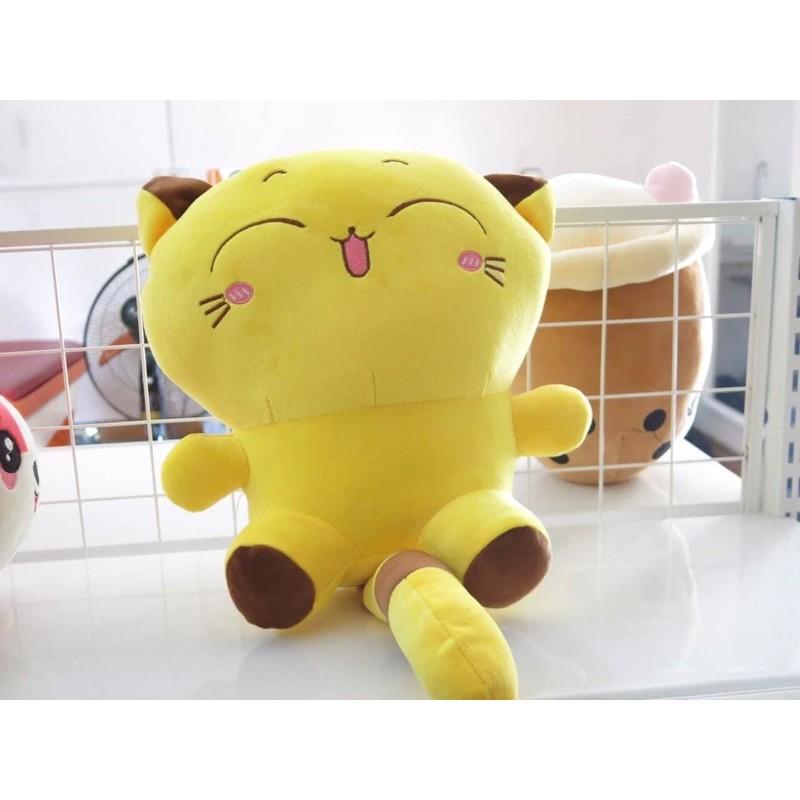 ❤️Sỉ Giá Xưởng❤️ Thú Bông Mèo Vàng, Mèo Bông Vàng Siêu Dễ Thương Mềm Êm Mịn( Ảnh Thật)