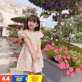 Váy Bé Gái Hoa Nhí Hàng Thiết Kế Cao Cấp Size 12-35kg