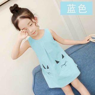 Váy mèo xanh so cute cho bé gái