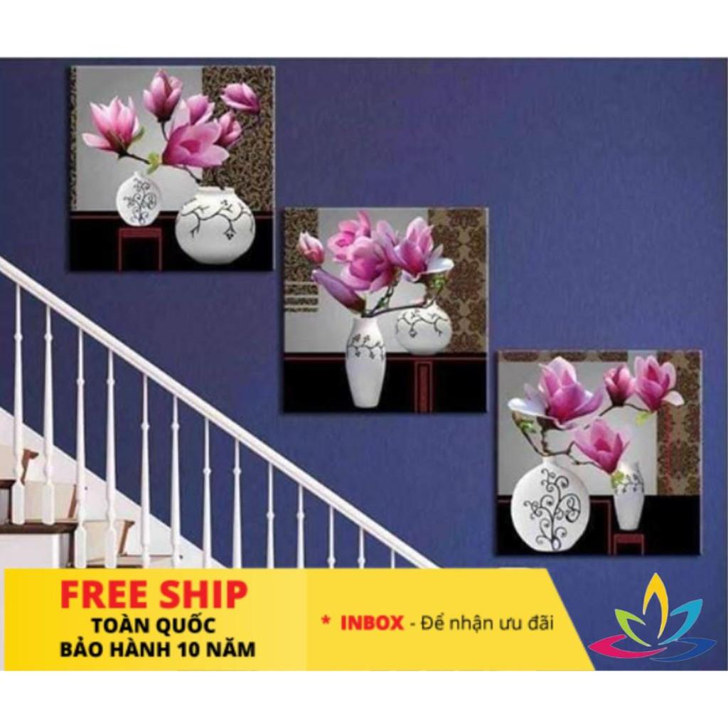 [BẢO HÀNH 10 NĂM] Bộ Tranh 3 Tấm Tranh Treo Tường Formex bộ tam hoa phú quý Trang trí nhà trang trí phòng ngủ cầu thang