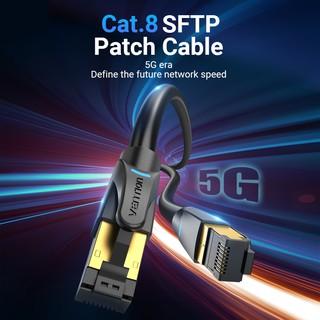 🔌📼 Dây Cáp Mạng 5G VENTION Ethernet Cat8 SFTP 40Gbps Cáp mạng RJ45 tốc độ siêu cao Đầu nối mạ vàng cho Modem