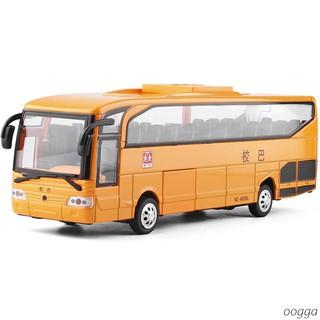 set 5 mô hình xe buýt đồ chơi tỉ lệ 1:26