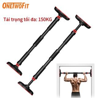 OneTwoFit thanh xà đơn Treo Tường Thanh ngang có thể điều chỉnh Thép rắn trọng 67-100cm OT160 thumbnail