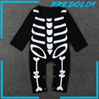 [PREDOLO1] Baby Boy Girl Halloween Skull Skeleton Party Costume Kids Romper Bodysuit Gift