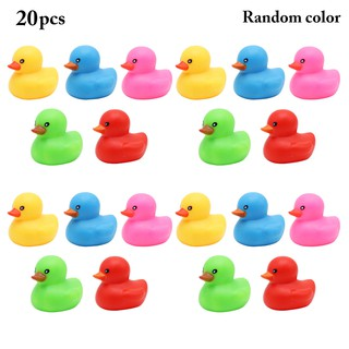 20PCS Baby Bath Toy Squeaky Duck Shower Toy for Toddlers Kids