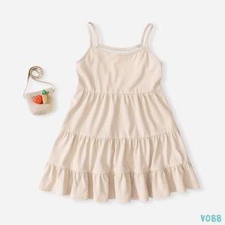 [Mã FASHIONXANH94 giảm 10K đơn 50K] Váy Bé Gái Thun 2 Dây Cho Bé Gái Siêu Xinh BELLO LAND 5 Màu Thời Trang thumbnail