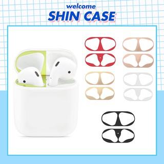 Miếng Dán Bảo Vệ Kim Loại Mạ Vàng Chống Bụi Cho Tai Nghe Bluetooth Không Dây Ốp Lưng AirPods i12 2 Pro Vỏ Case Iphone