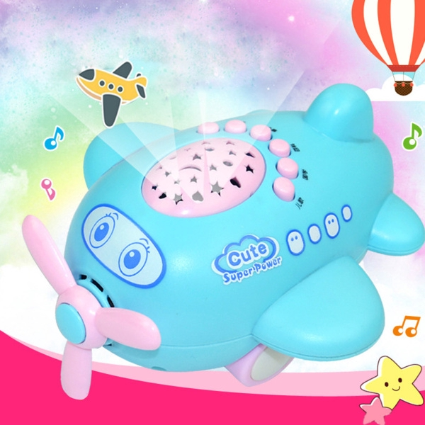 Star Projection Sleep Early Education Toy RC Small Plane Children Educational Story Machine