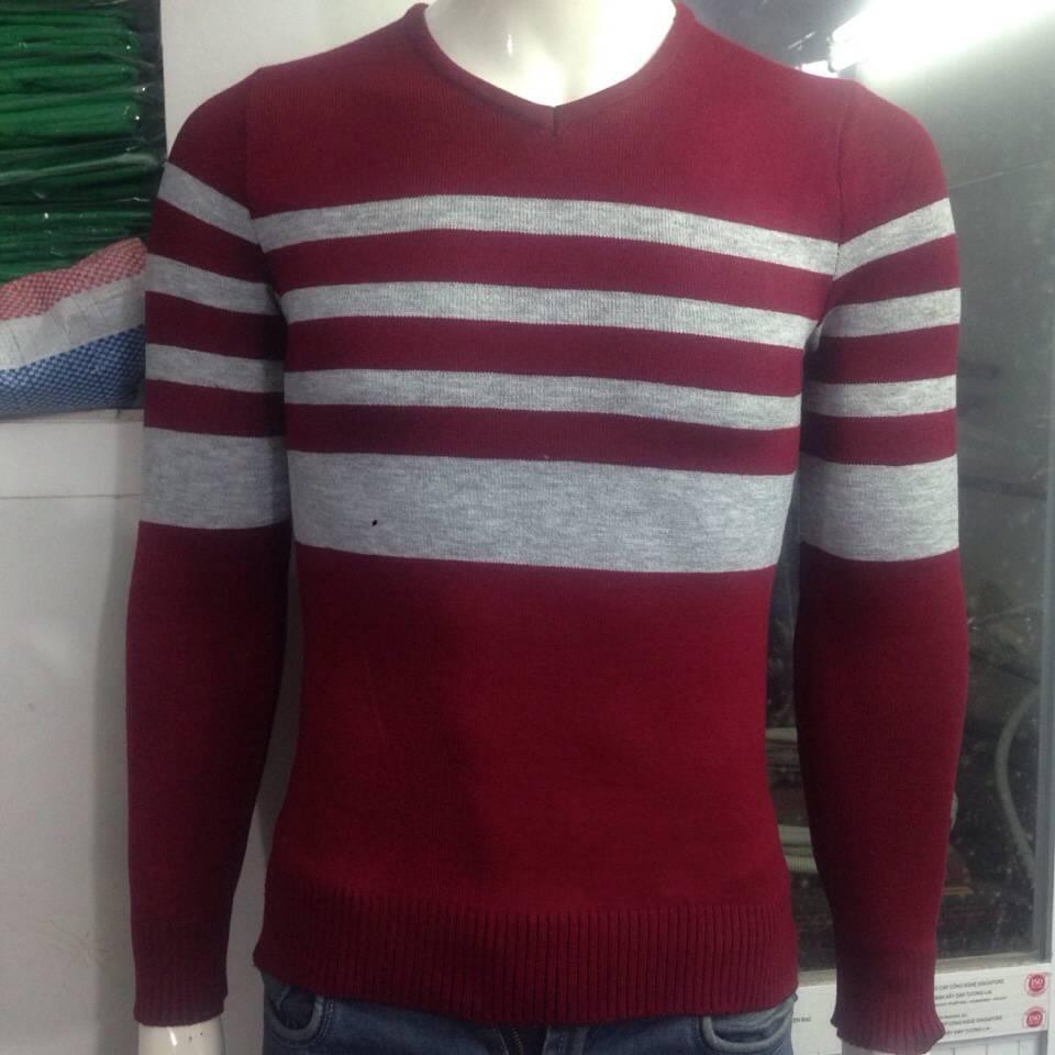 Áo len nam  (2 màu) - Áo len cổ tròn dài tay