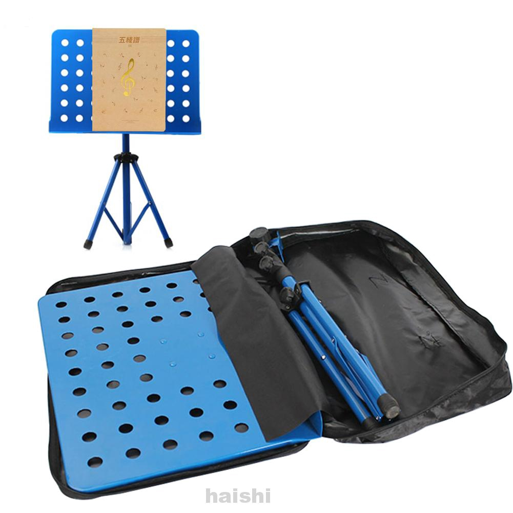 Carrying Adjustable Shoulder Portable Musical Instrument Foldable Double Zipper Music Stand Bag