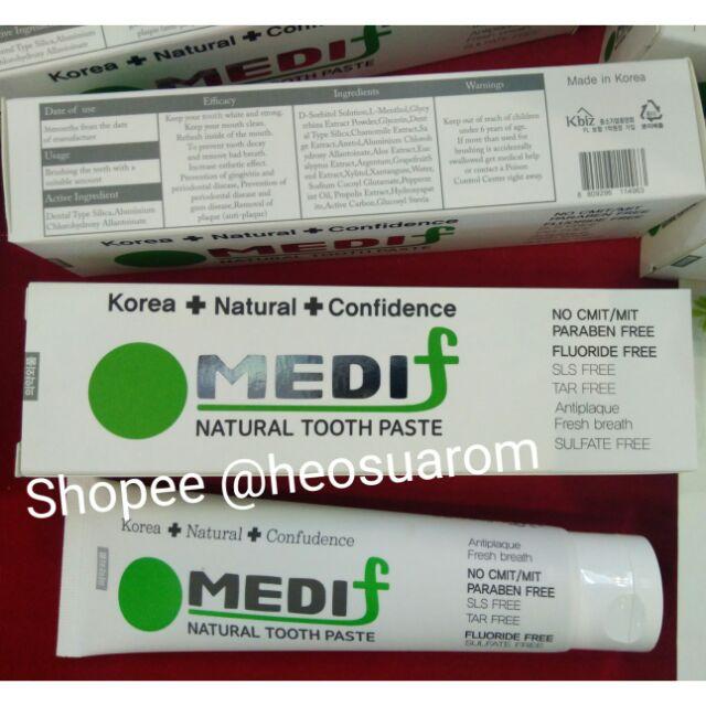[HOT] Kem đánh răng thảo dược Medif Hàn Quốc 130g hỗ trợ điều trị bệnh răng miệng an