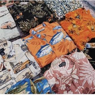 Chọn Mẫu Áo sơmi hawaii Mỹ 2hand phong cách vintage , áo somi vải lanh hàng loại 1 họa tiết đa dạng – Mẫu 1 – dosi2do