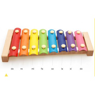 Đàn 8 giai điệu piano mỗi nốt một một màu cầu vồng