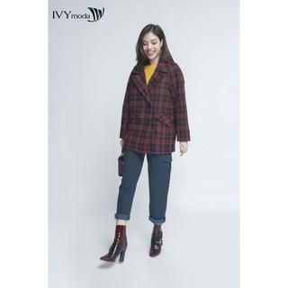 [Mã WABR1550 - 10% - ĐH từ 250K]Áo Khoác dạ nữ dáng suông IVY moda MS 71M4158 thumbnail