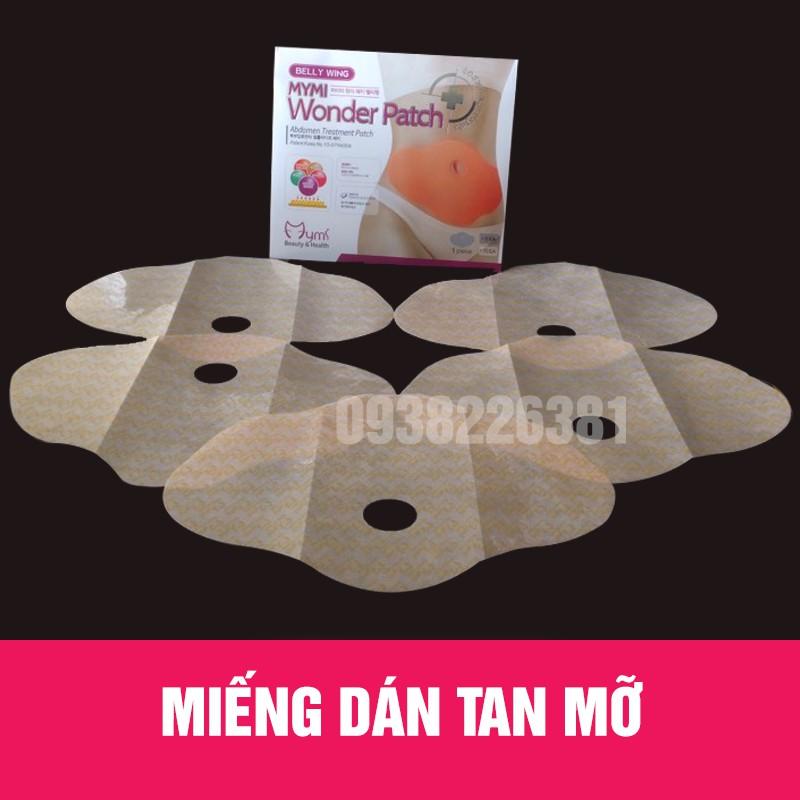 Combo 3 hộp 15 Miếng dán tan mỡ giảm eo Wonder Patch ( 1 hộp 5 miếng)