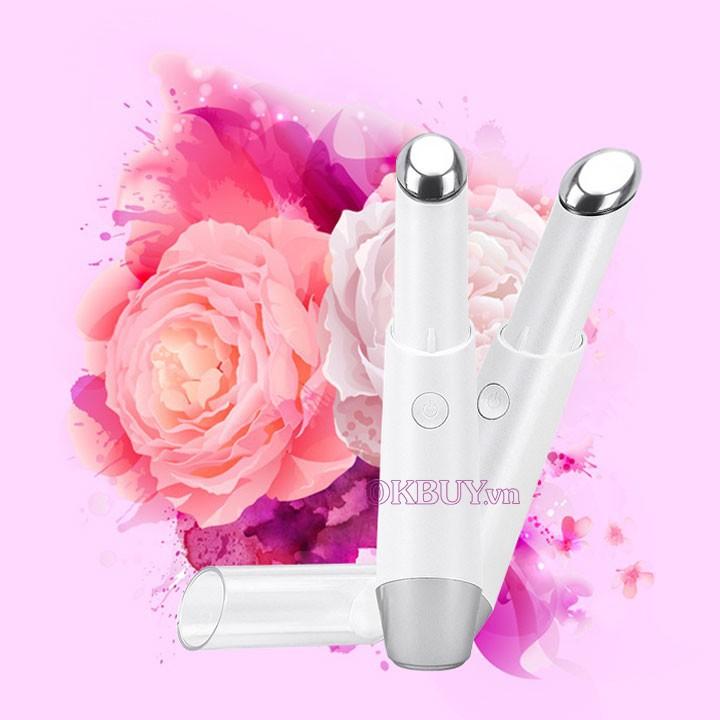 Bút Điện Di massage xóa nhăn trị thâm quầng mắt, môi cao cấp D018 - Có nhiệt