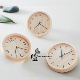 Đồng hồ treo tường kim trôi Lock&Lock bằng nhựa giả vân gỗ